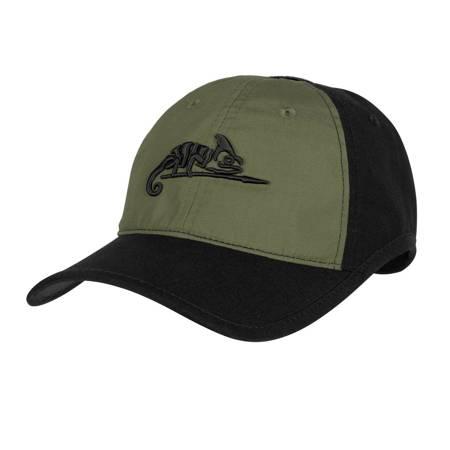 Czapka Logo Cap - Czarny / Zielony OD - Helikon-Tex